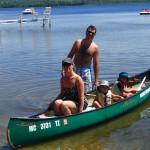 canoeing family