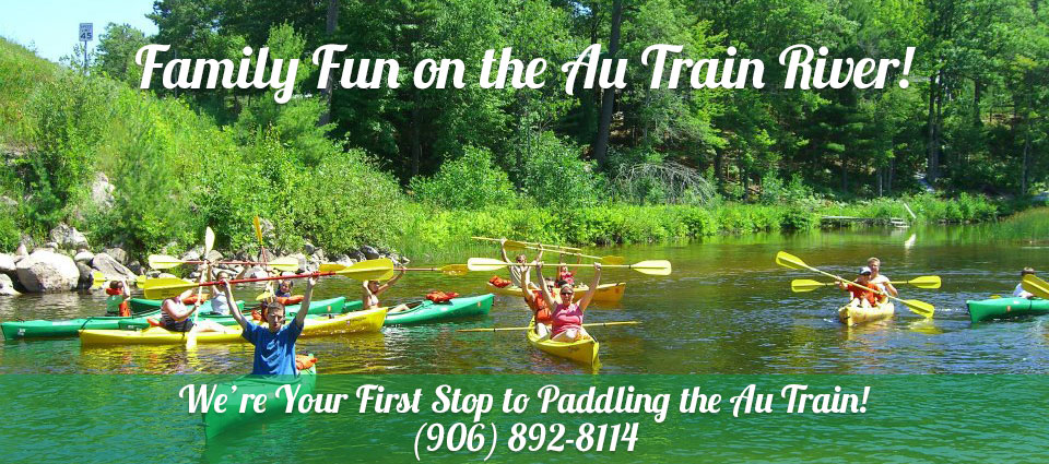canoe and kayak rentals on Au Train River
